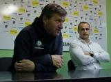 Trojice zasvěcených odpovídala na otázky týkající se 1.FK Příbram