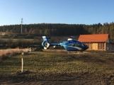 Aktuálně: K vážně zraněnému motorkáři byl povolán záchranářský vrtulník