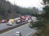 Nehoda u Dobříše uzavřela rychlostní silnici ve směru na Prahu
