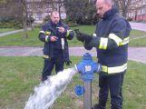 Hasiči prováděli kondiční jízdy a kontrolu nadzemních hydrantů