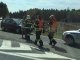 Nehoda nedaleko Dubence, naštěstí bez zranění