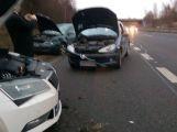 Hned za vjezdem na dálnici D4 došlo k hromadné nehodě