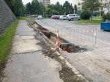 Uložení plynovodu potrápí do pátku motoristy v Křižáku