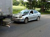 Opatrně cestou na Hluboš, došlo zde ke dvěma nehodám
