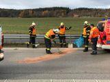 Tragédie na D4: Chodce na dálnici srazilo auto, byl na místě mrtvý
