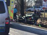 U vážné nehody u Chraštic zasahuje vrtulník