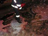 Únik hydraulického oleje byl důvodem výjezdu hasičů