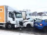 Silnici u Rožmitálu uzavřela hromadná nehoda