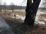 Při nehodě u Hluboše uhořel v autě člověk