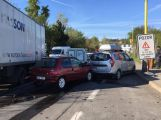 Aktuálně: Hromadná dopravní nehoda pěti aut ucpala Evropskou ulici v Příbrami