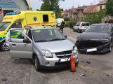 Dva vozy se střetly pod Svatou Horou, na místě zasahuje záchranná služba