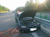 Právě teď: Dálnice D4 ve směru na Příbram kvůli nehodě osobního vozu s nákladním uzavřela jeden jízdní pruh