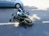 Závěr víkendu se neobešel bez dopravní nehody motocyklisty