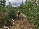 Hasiči před několika minutami zlikvidovali oheň v lese na okraji Příbrami