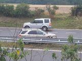 Právě teď: Na dálnici D4 havarovalo auto do svodidel