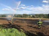 Právě teď: Hasiči likvidují požár pole u Neumětel