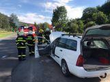 Požár osobního automobilu v Čenkově zaměstnal hasiče