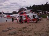 V kempu Radava zasahoval vrtulník letecké záchranné služby