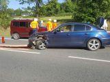 Právě teď: Střet dvou vozidel zastavil dopravu na výjezdu z Příbrami