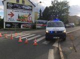 Husova ulice uzavřena! Došlo zde k dopravní nehodě osobního vozu s motycklem