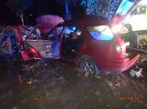 Mladý řidič narazil do stromu, na místě zasahoval vrtulník