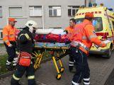 Záchranné složky dnes trénovaly zásah v nemocnici
