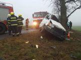 U obce Řeteč narazila dodávka čelně do stromu, z místa jsou hlášené zraněné osoby