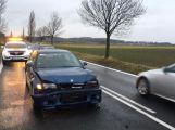 Na silnici I/4 u Vrančic došlo k nehodě tří osobních vozidel