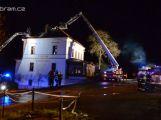 Video: Požár penzionu u nádraží v Mníšku pod Brdy