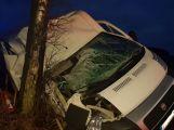 Právě teď: Dodávka vylétla mimo silnici, zastavila se až o strom