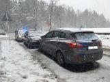 Dopravní nehoda v Prokopské ulici zaměstnává dopravní policisty