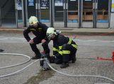 Obrazem: Taktické cvičení složek IZS na příbramském zimním stadionu (21)