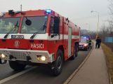 Hasiči vyjeli k hořícímu nákladnímu autu (5)