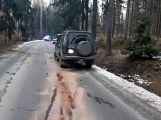 Právě teď: Řidič nezvládl zatáčku a po smyku narazil  přímo do stromu,  pasažérka je zraněná (8)