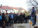 """Studenti příbramských škol se připojili ke stávce a """"Vyšli ven"""" (18)"""