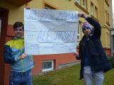 """Studenti příbramských škol se připojili ke stávce a """"Vyšli ven"""" (21)"""