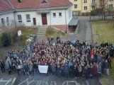 """Studenti příbramských škol se připojili ke stávce a """"Vyšli ven"""" (22)"""