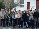 """Studenti příbramských škol se připojili ke stávce a """"Vyšli ven"""" (1)"""