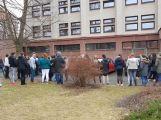 """Studenti příbramských škol se připojili ke stávce a """"Vyšli ven"""" (4)"""