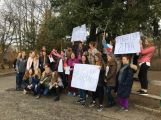 """Studenti příbramských škol se připojili ke stávce a """"Vyšli ven"""" (8)"""