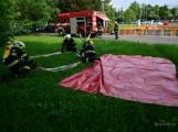 V Dobříši se připravovaly jednotky IZS na únik čpavku ve strojovně zimního stadionu (16)