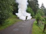 Hasiči zasahovali u požáru osobního vozidla (2)