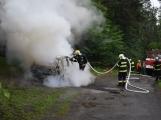 Hasiči zasahovali u požáru osobního vozidla (4)