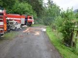 Hasiči zasahovali u požáru osobního vozidla (6)