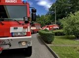 Právě teď: Několik hasičských jednotek zasahuje při požáru nákladního vozidla u čerpací stanice (9)