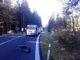 Za Věšínem došlo k vážné nehodě, přistává zde vrtulník ()