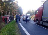 Za Věšínem došlo k vážné nehodě, přistává zde vrtulník (2)
