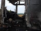 AKTUÁLNĚ: Požár kamionu zastavil provoz na D4 (1)