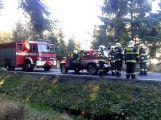 Za Věšínem došlo k vážné nehodě, přistává zde vrtulník (6)