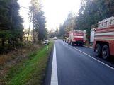 Za Věšínem došlo k vážné nehodě, přistává zde vrtulník (7)